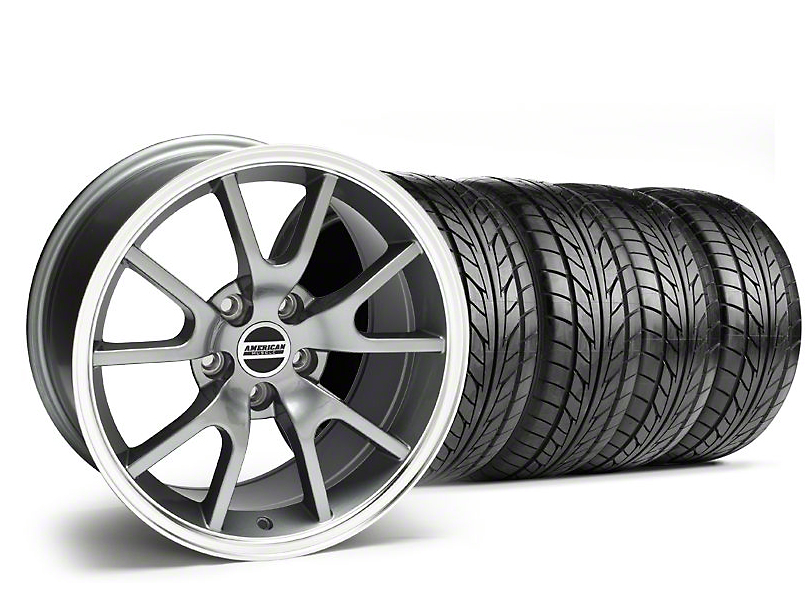 Staggered FR500 Style Anthracite Wheel & NITTO Tire Kit - 18x9/10 (94-98 All)