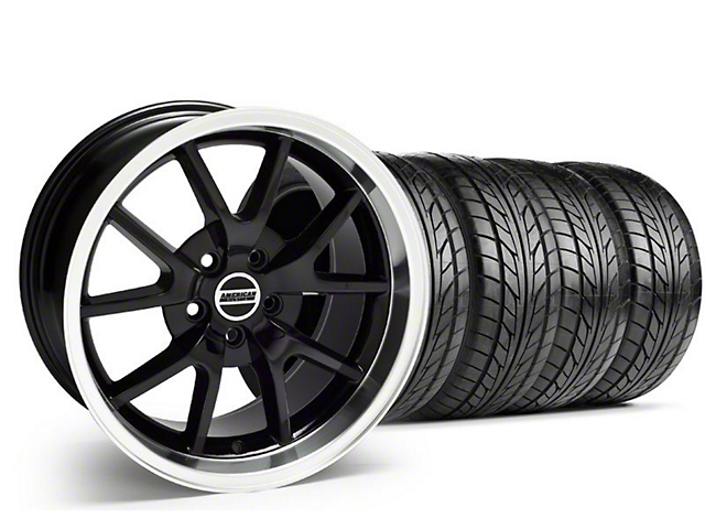 Staggered FR500 Style Black Wheel & NITTO Tire Kit - 18x9/10 (94-98 All)