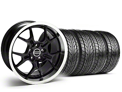 Staggered Black GT4 Wheel & NITTO Tire Kit - 18x9/10 (94-98 All)