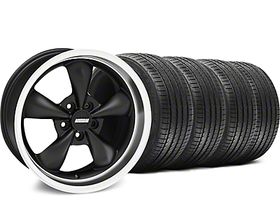 Matte Black Bullitt Wheel & Sumitomo Tire Kit - 18x9 (05-14 GT, V6)