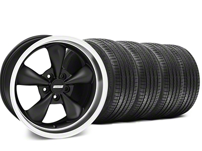 Staggered Bullitt Matte Black Wheel & Sumitomo Tire Kit - 18x9/10 (05-14 GT, V6)