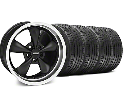 Staggered Bullitt Matte Black Wheel & Sumitomo Tire Kit - 18x9/10 (05-10 GT; 05-14 V6)