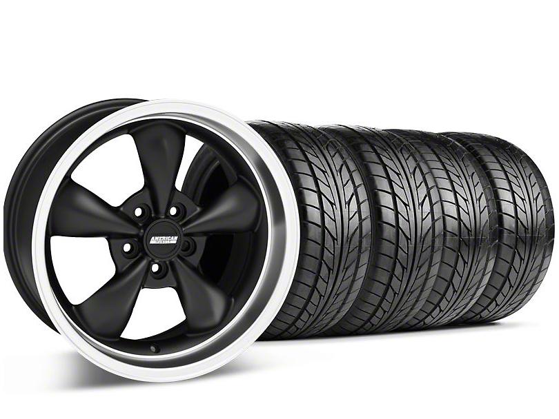 Bullitt Matte Black Wheel & NITTO Tire Kit - 18x9 (05-14 GT, V6)