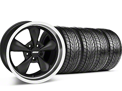 Bullitt Matte Black Wheel & NITTO Tire Kit - 18x9 (05-14 GT, V6)