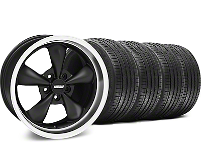 Matte Black Bullitt Wheel & Sumitomo Tire Kit - 17x8 (94-04 All)