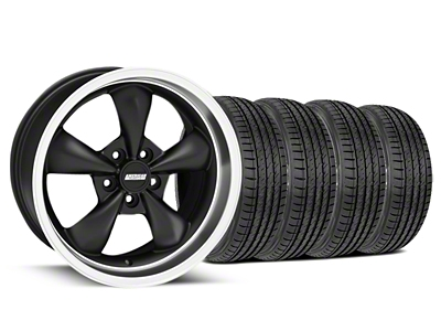 Bullitt Matte Black Wheel & Sumitomo Tire Kit - 17x9 (99-04 All)