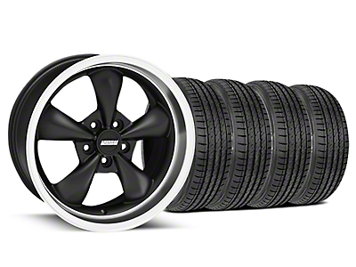Matte Black Bullitt Wheel & Sumitomo Tire Kit - 17x9 (99-04 All)