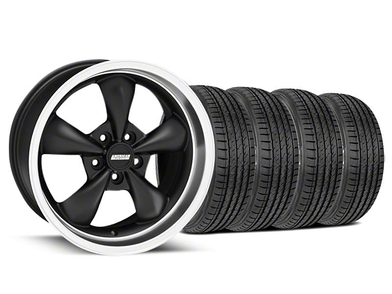Bullitt Matte Black Wheel & Sumitomo Tire Kit - 17x9 (99-04 All)