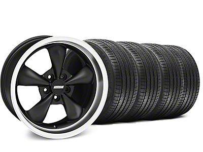 Matte Black Bullitt Wheel & Sumitomo Tire Kit - 18x9 (99-04 All)
