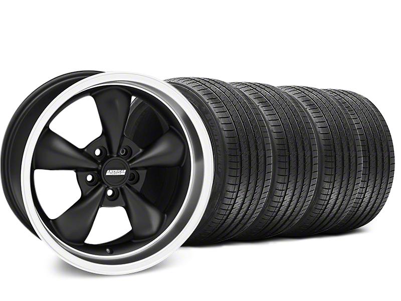 Bullitt Matte Black Wheel & Sumitomo Tire Kit - 18x9 (99-04 All)