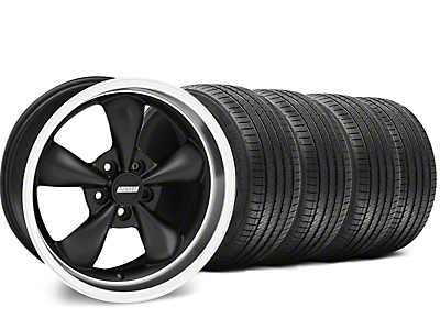 Staggered Matte Black Bullitt Wheel & Sumitomo Tire Kit - 18x9/10 (99-04 All)