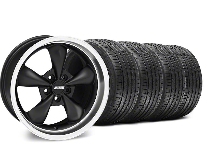 Staggered Bullitt Matte Black Wheel & Sumitomo Tire Kit - 18x9/10 (99-04 All)