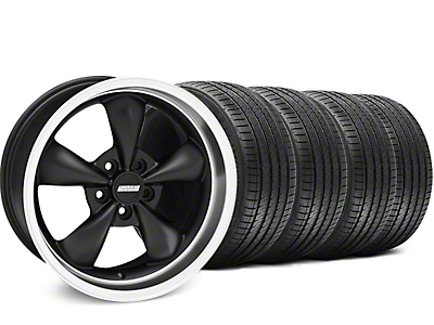 Matte Black Bullitt Wheel & Sumitomo Tire Kit - 17x9 (94-98 All)