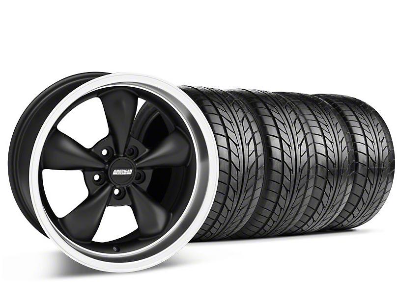 Bullitt Matte Black Wheel & NITTO Tire Kit - 17x9 (94-98 All)