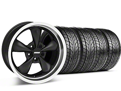 Bullitt Matte Black Wheel & NITTO Tire Kit - 17x9 (94-98 All)