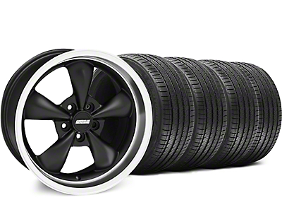 Staggered Matte Black Bullitt Wheel & Sumitomo Tire Kit - 18x9/10 (94-98 All)
