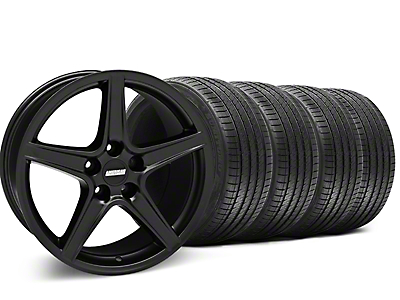 Saleen Matte Black Wheel & Sumitomo Tire Kit - 18x9 (05-14 GT, V6)