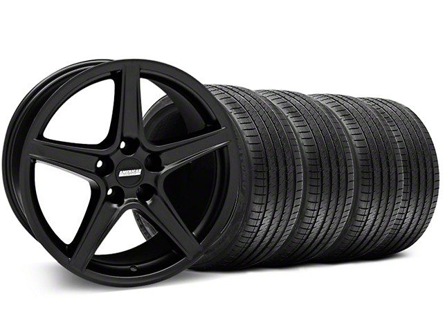 Saleen Style Matte Black Wheel & Sumitomo Tire Kit - 18x9 (99-04 All)