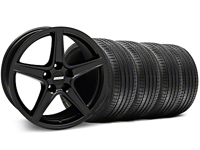 Matte Black Saleen Style Wheel & Sumitomo Tire Kit - 18x9 (99-04 All)