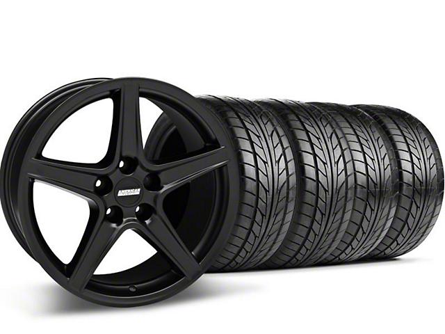 Saleen Style Matte Black Wheel & NITTO Tire Kit - 18x9 (99-04 All)
