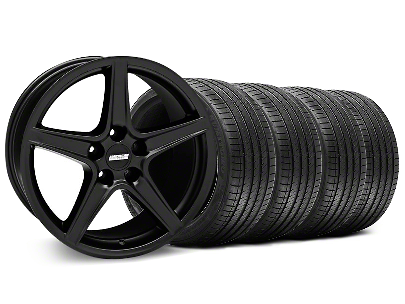 Saleen Style Matte Black Wheel & Sumitomo Tire Kit - 18x9 (94-98 All)