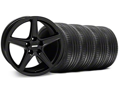 Saleen Style Matte Black Wheel & Sumitomo Tire Kit - 18x9 (94-98 All)