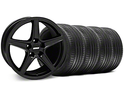 Saleen Matte Black Wheel & Sumitomo Tire Kit - 18x9 (94-98 All)