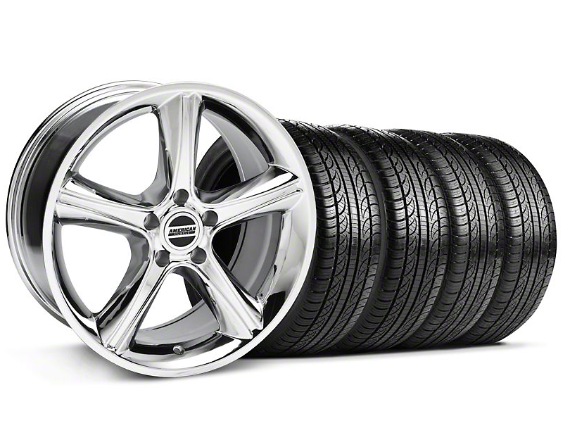 GT Premium Style Chrome Wheel & Pirelli Tire Kit - 19x8.5 (05-14)