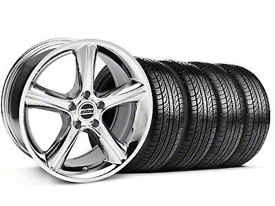 GT Premium Chrome Wheel & Pirelli Tire Kit - 19x8.5 (05-14)