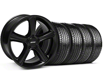 Black GT Premium Wheel & Pirelli Tire Kit - 19x8.5 (05-14)