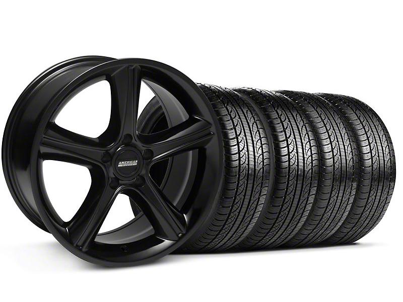 GT Premium Style Black Wheel & Pirelli Tire Kit - 19x8.5 (05-14)
