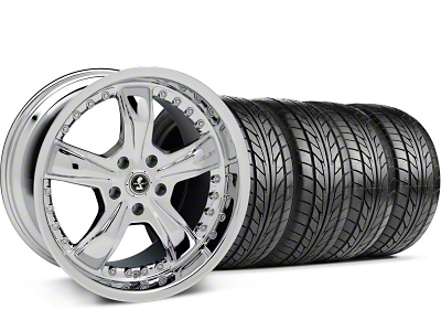 Shelby Razor Chrome Wheel & NITTO Tire Kit - 18x9 (05-14)