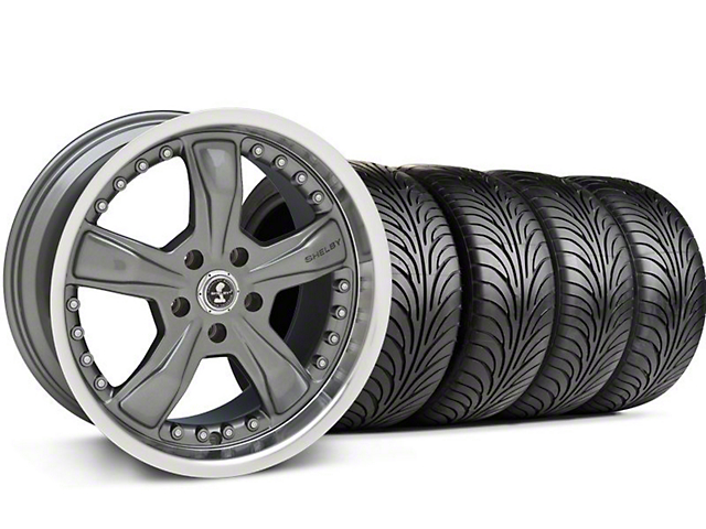 Staggered Shelby Razor Gunmetal Wheel & Sumitomo Tire Kit - 18x9/10 (05-14)