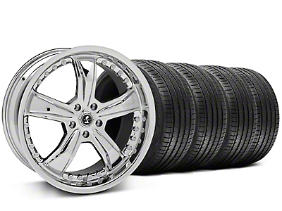Chrome Shelby Razor Wheel & Sumitomo Tire Kit - 20x9 (05-14)