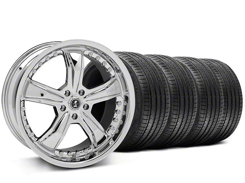 Shelby Razor Chrome Wheel & Sumitomo Tire Kit - 20x9 (05-14 All)