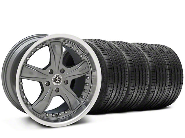Shelby Staggered Razor Chrome Wheel & Sumitomo Tire Kit - 20x9/10 (05-14 All)