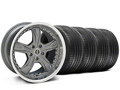 Staggered Chrome Shelby Razor Wheel & Sumitomo Tire Kit - 20x9/10 (05-14)