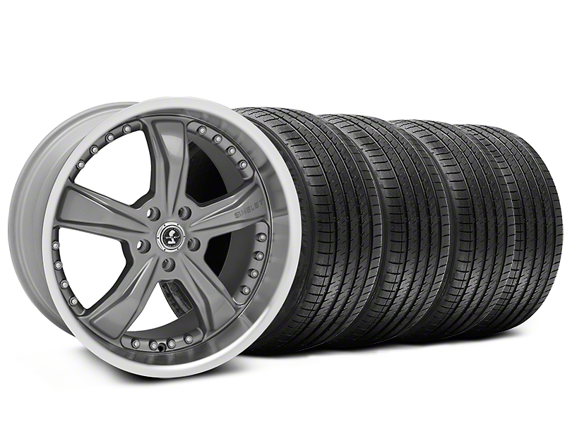 Staggered Shelby Razor Gunmetal Wheel & Sumitomo Tire Kit - 20x9/10 (05-14 GT, V6; 07-12 GT500)