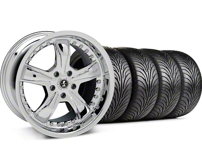 Shelby Razor Chrome Wheel & Sumitomo Tire Kit - 18x9 (99-04 All)