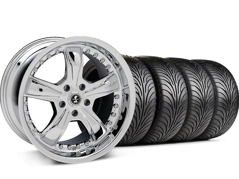 Shelby Staggered Razor Chrome Wheel & Sumitomo Tire Kit - 18x9/10 (99-04 All)