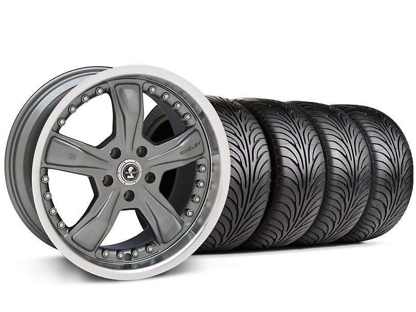 Staggered Shelby Razor Gunmetal Wheel & Sumitomo Tire Kit - 18x9/10 (99-04 All)