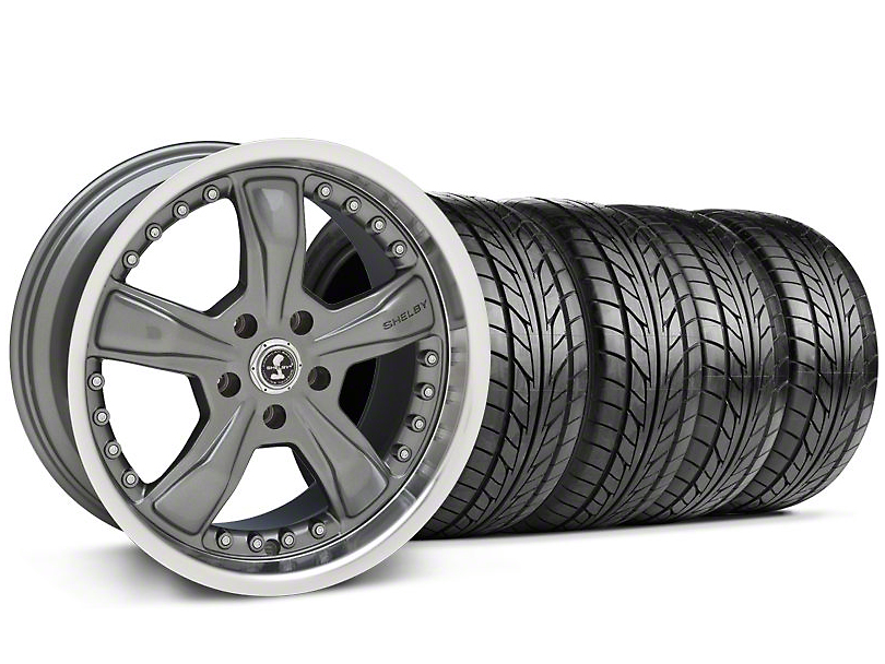 Shelby Razor Gunmetal Wheel & NITTO Tire Kit - 18x9 (99-04 All)