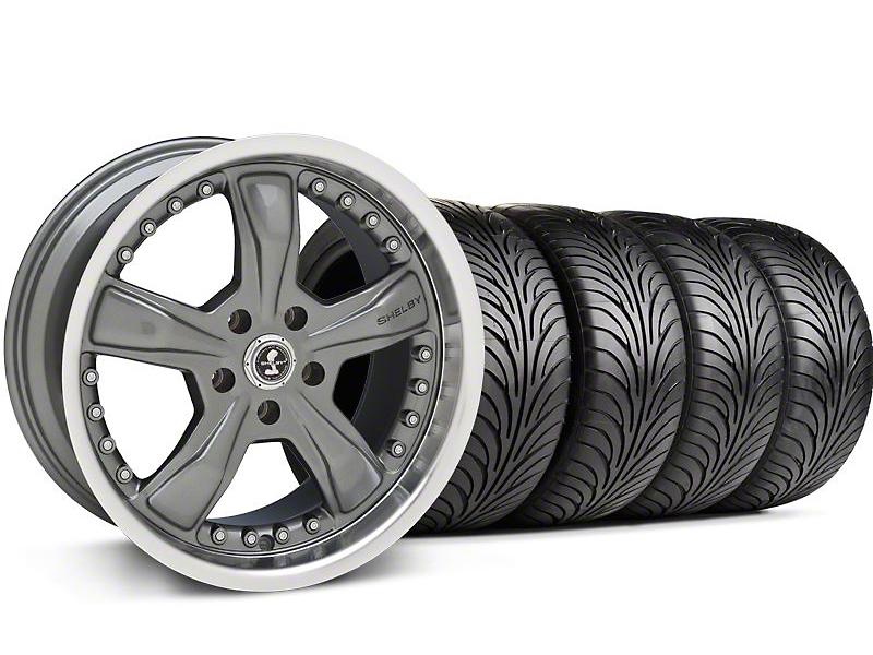Shelby Staggered Razor Gunmetal Wheel & Sumitomo Tire Kit - 18x9/10 (94-98 All)