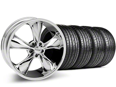 Foose Staggered Legend Chrome Wheel & Sumitomo Tire Kit - 20x8.5/10 (05-14 GT, V6)