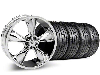 Foose Staggered Legend Chrome Wheel & Sumitomo Tire Kit - 20x8.5/10 (05-14 GT, V6)