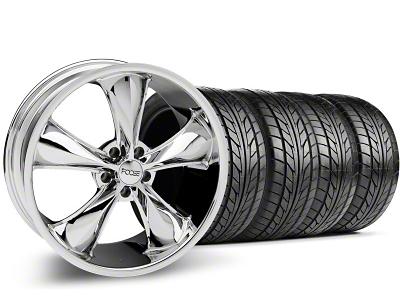 Foose Legend Chrome Wheel & NITTO Tire Kit - 20x8.5 (05-14 GT, V6)