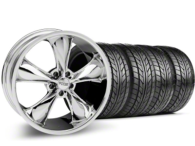Foose Staggered Legend Chrome Wheel & NITTO Tire Kit - 20x8.5/10 (05-14 GT, V6)