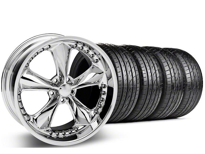Foose Staggered Nitrous Chrome Wheel & Sumitomo Tire Kit - 20x8.5/10 (05-14 GT, V6)