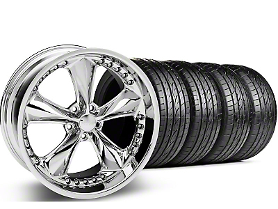 Foose Staggered Nitrous Chrome Wheel & Sumitomo Tire Kit - 20x8.5/10 (05-14 GT, V6)