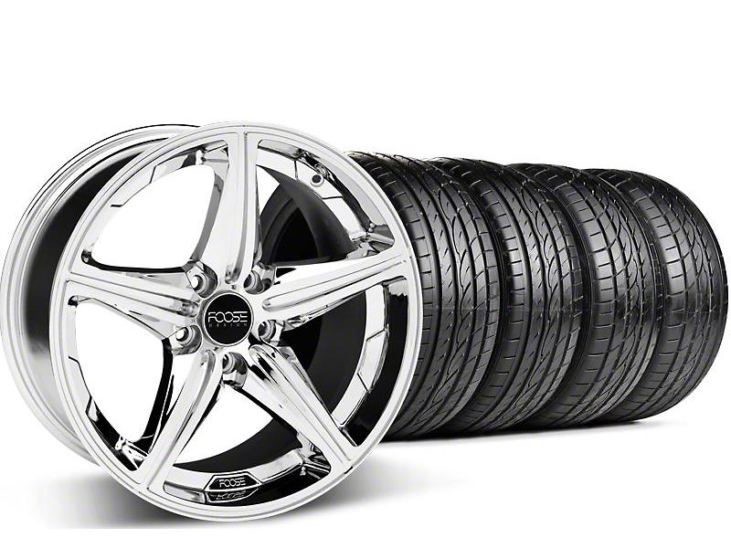 Foose Speed Chrome Wheel & Sumitomo Tire Kit - 18x8 (05-14 GT, V6)